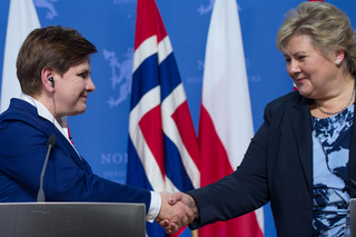 Prime Ministers: Beata Szydło (Republic of Poland) and Erna Solberg (Kingdom of Norway) in Oslo, February 2016