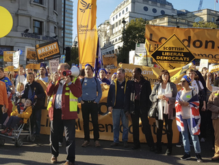 Front of libdems at March 20th October