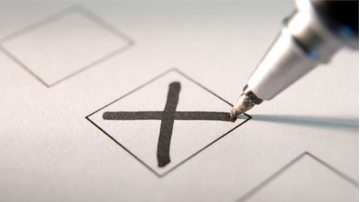 Cross on ballot