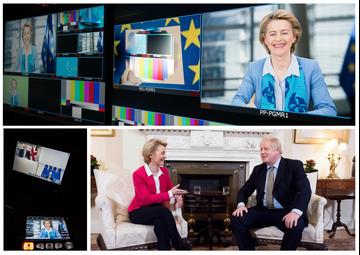 Montage EU Commission Boris Johnson