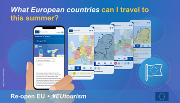 European EU travel tourism covid virus corona website