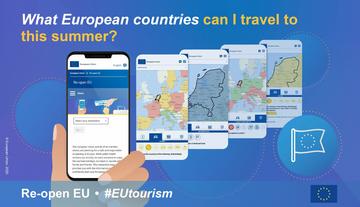 European EU travel tourism covid virus corona website